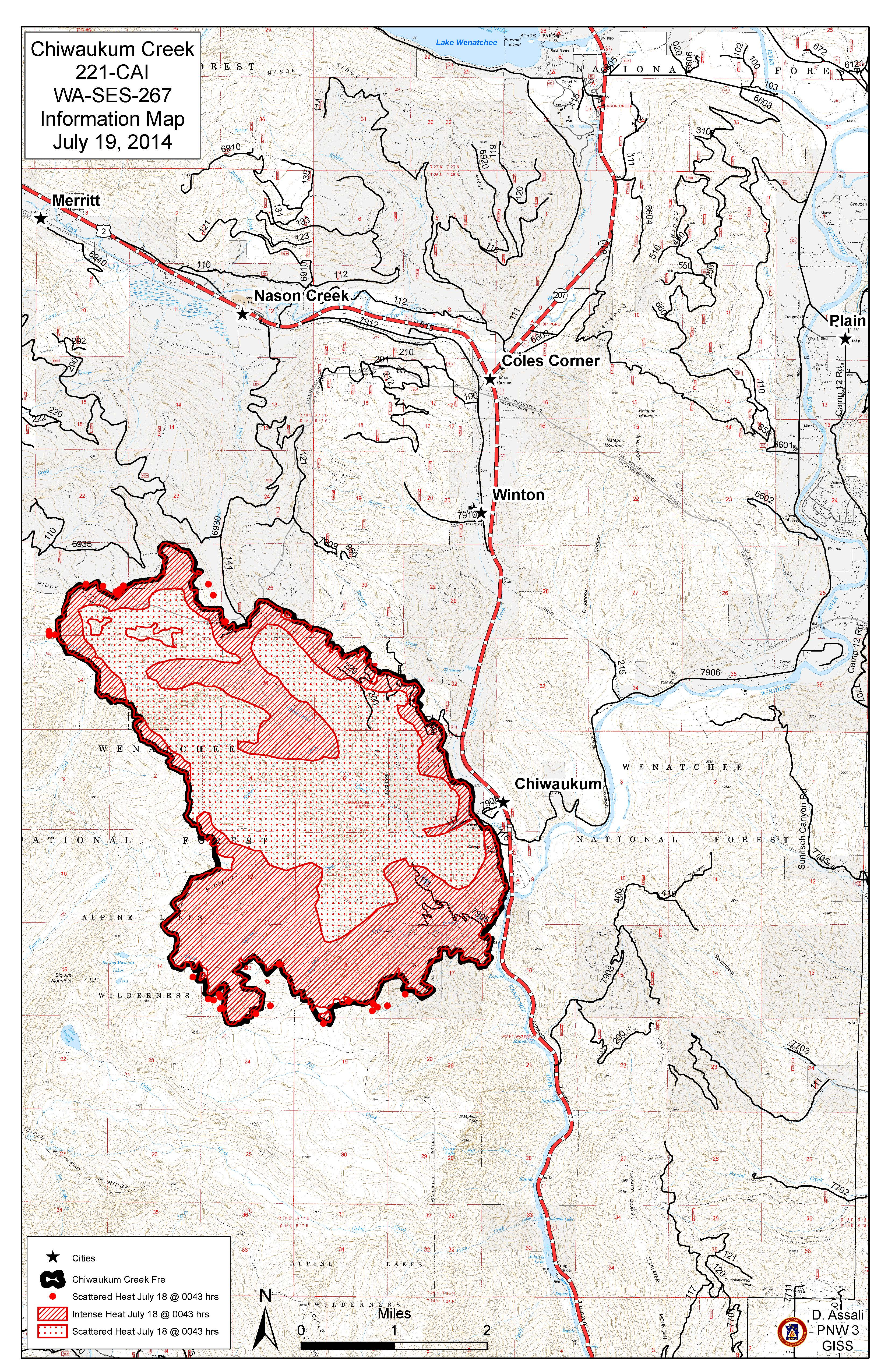 Mills Canyon Chiwaukum Kelly Mt Duncan Fire Maps July 19 2014